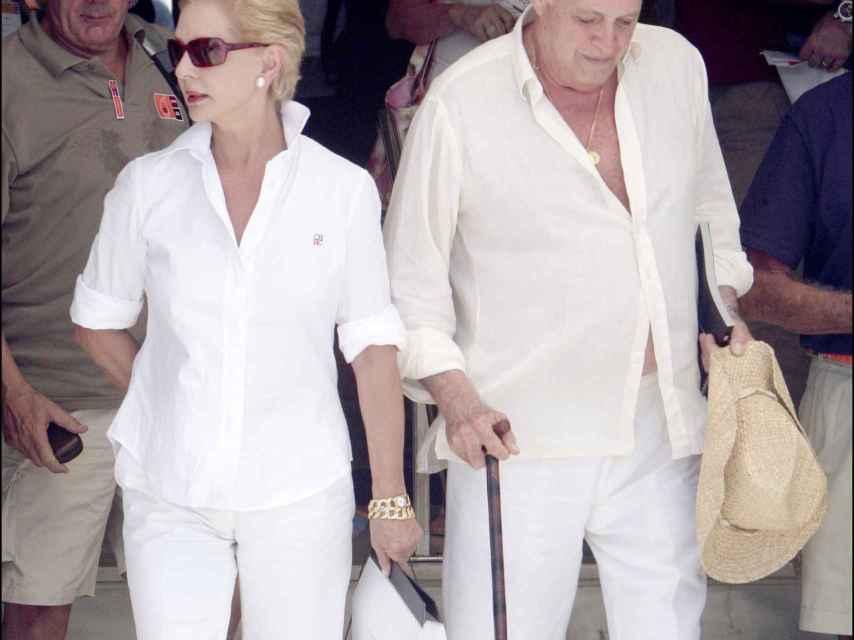 Carolina Herrera y Reinaldo Herrera en Mallorca en una imagen de archivo.