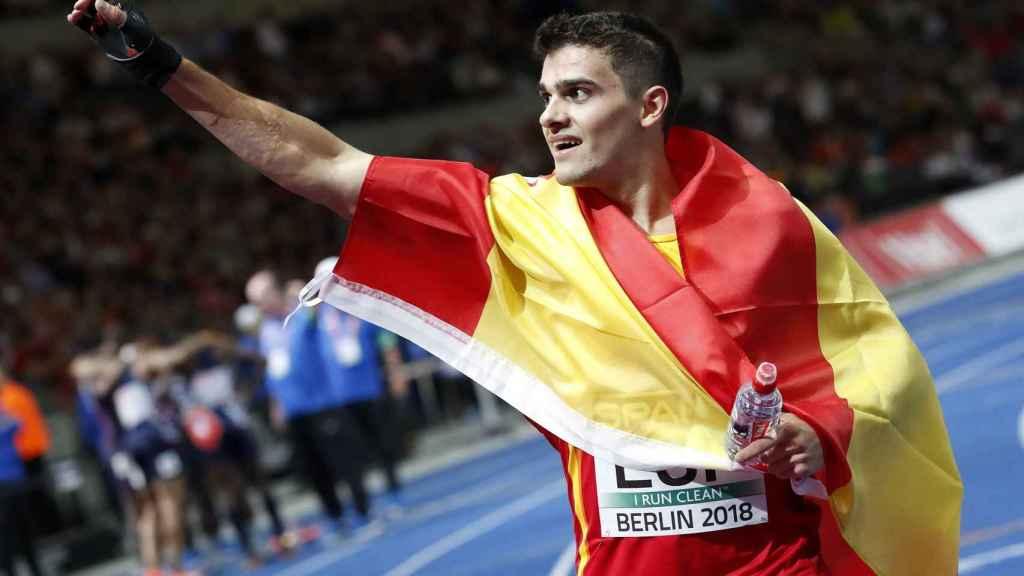 Bruno Hortelano, después de la final de 4x400m, donde España fue bronce.
