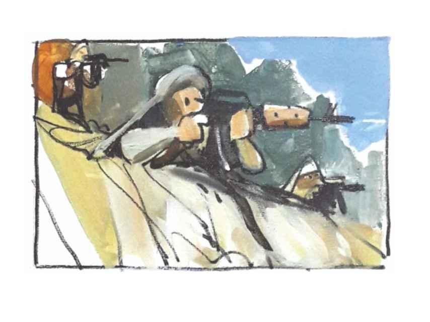 El enemigo abrió fuego contra el destacamento español en Sabzak.