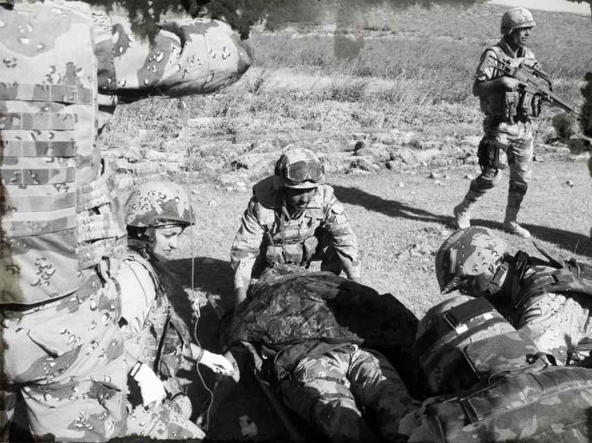 Así intervinieron al sargento Serantes en Sabzak.