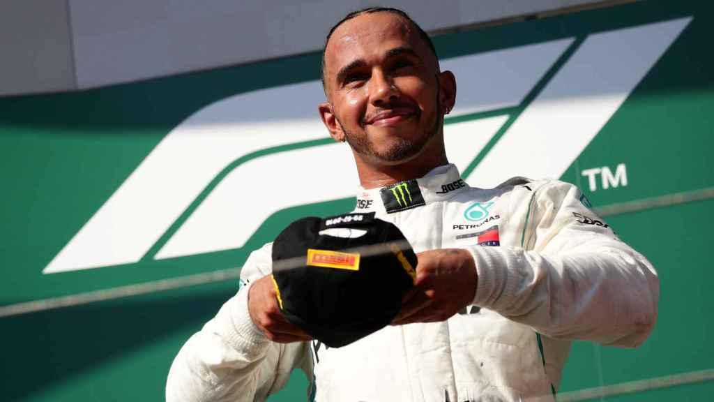 Hamilton, durante el Gran Premio de Hungría.