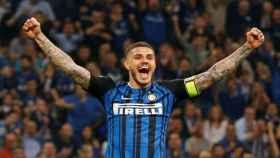 Icardi celebra un gol con el Inter