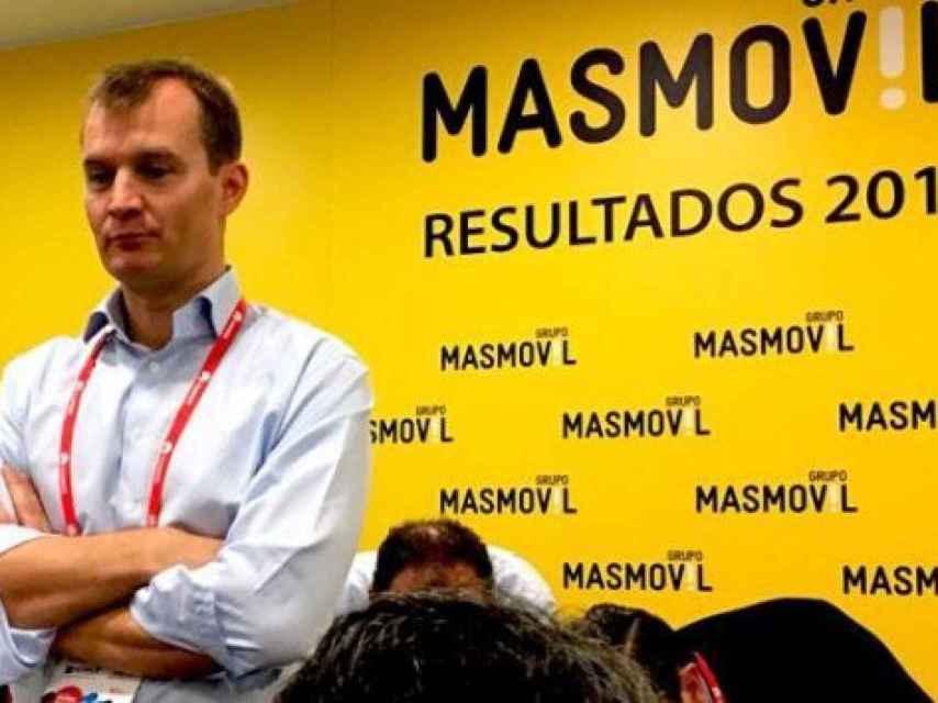 El consejero delegado de MásMóvil, Meinrad Spenger, en el Mobile World Congress de Barcelona.