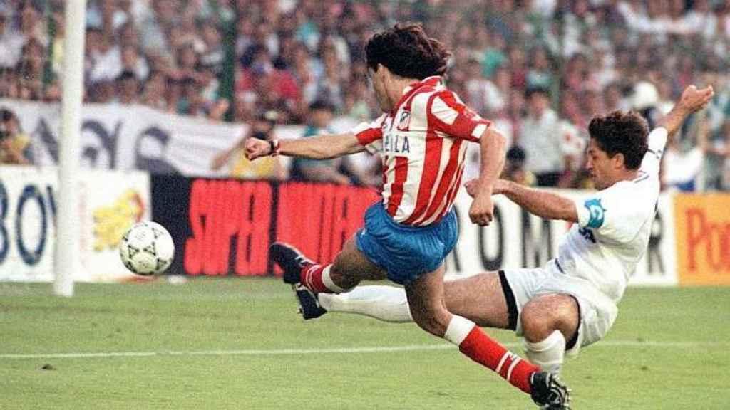 Futre, en su única final ante el Madrid.
