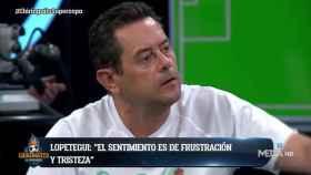 Tomás Roncero en El Chiringuito. Foto: Twitter. (@elchiringuitotv)