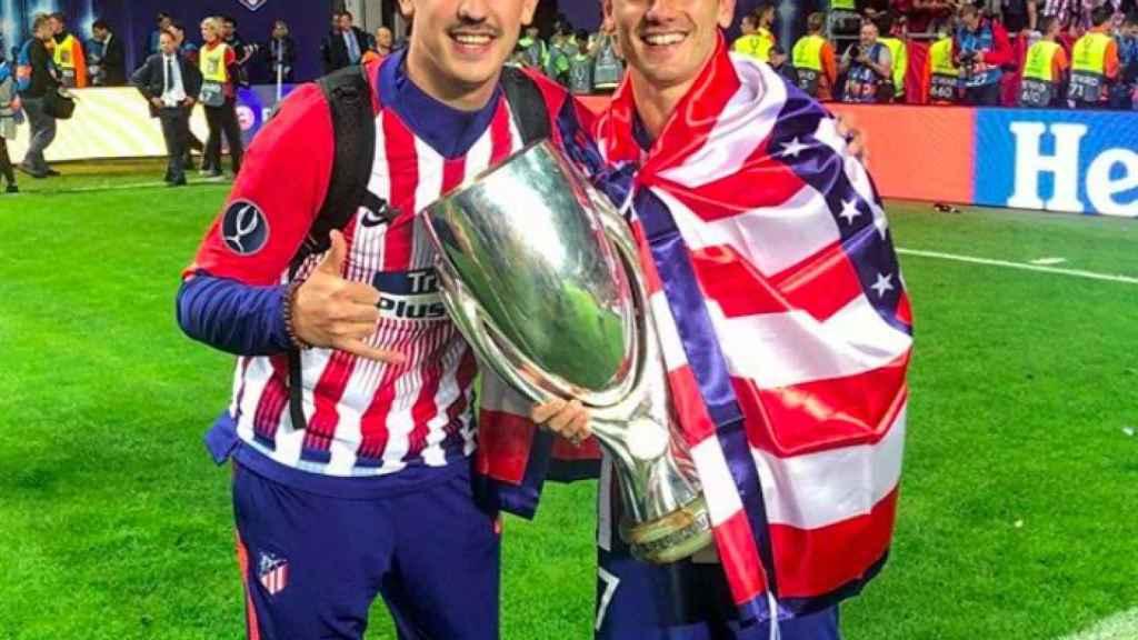 Theo Griezmann celebra junto a su hermano la Supercopa de Europa. Foto: Instagram (@theogriezmann)