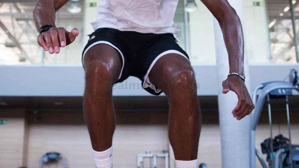Tavares entrena con el Real Madrid
