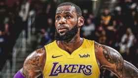 Lebron James, jugador de los Lakers.