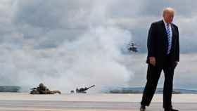 Donald Trump hace unos días en Nueva York, durante unas pruebas militares.