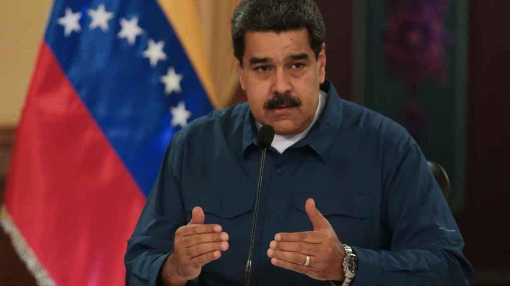 El presidente de Venezuela, Nicolás Maduro, durante un discurso en el Palacio de Miraflores.