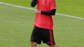 Modric durante un entrenamiento con el Real Madrid