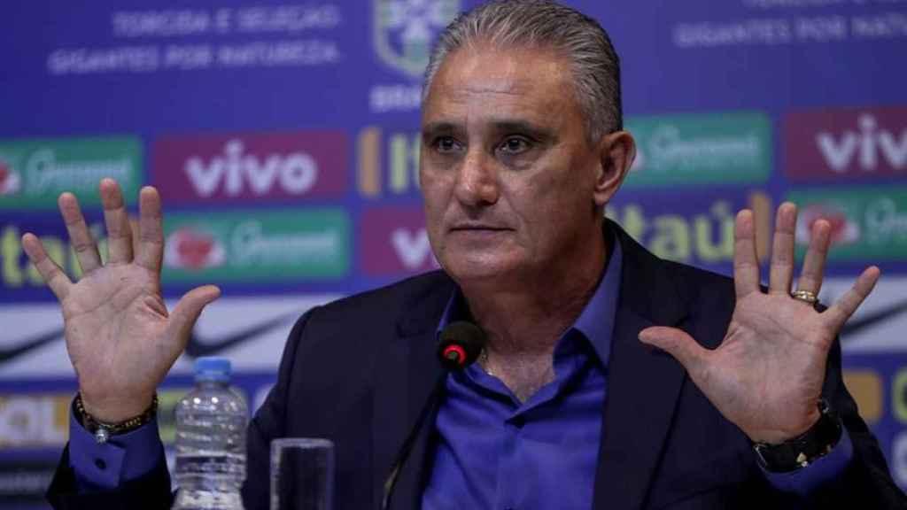 Tite, seleccionador de Brasil, en rueda de prensa
