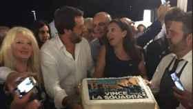 Salvini, de fiesta con 260 miembros de su partido la noche del derrumbe del puente en Génova