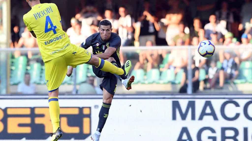 Cristiano Ronaldo, en su estreno oficial con la Juventus.