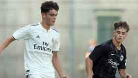 Cadete A del Real Madrid frente a una selección de Adidas