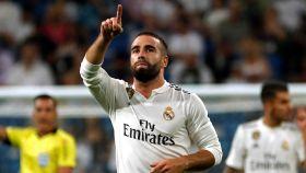 Dani Carvajal dedica su gol a la grada