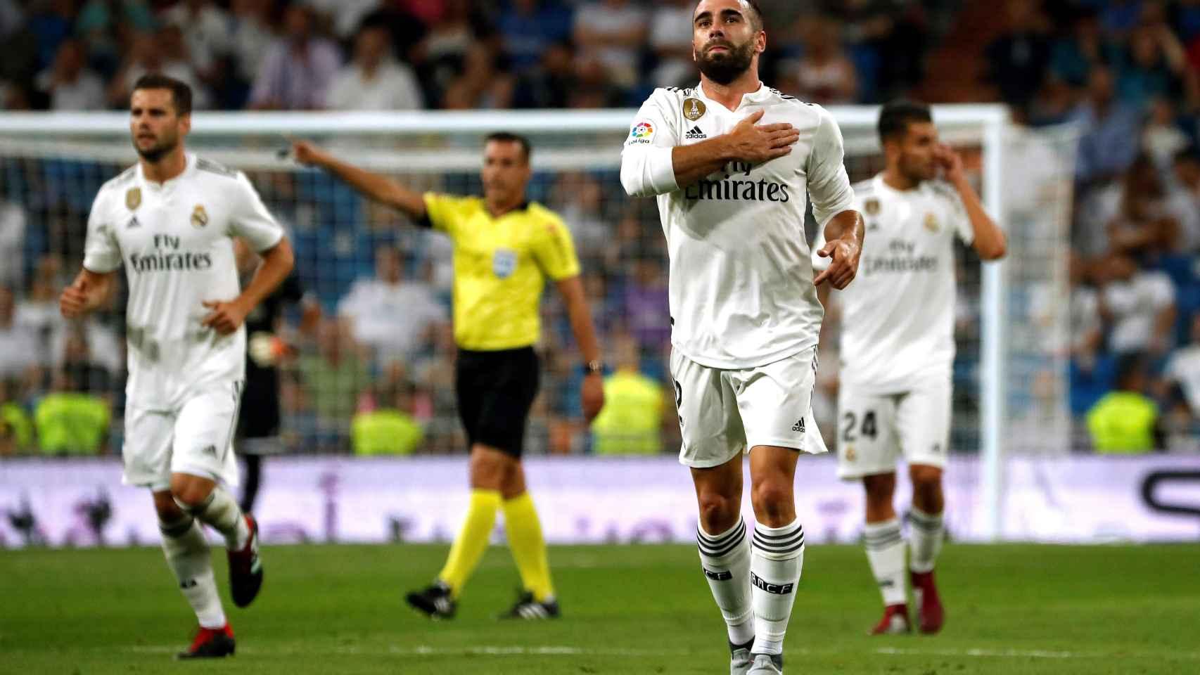 Dani Carvajal dedica su gol ante el Gerafe