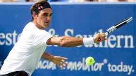 Federer, durante la final del Masters 1000 de Cincinnati