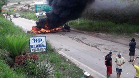Disturbios en la zona fronteriza entre Venezuela y Brasil.
