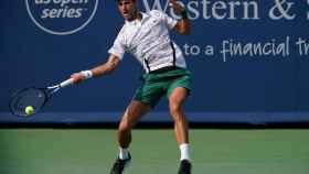 Djokovic, durante un momento del partido.