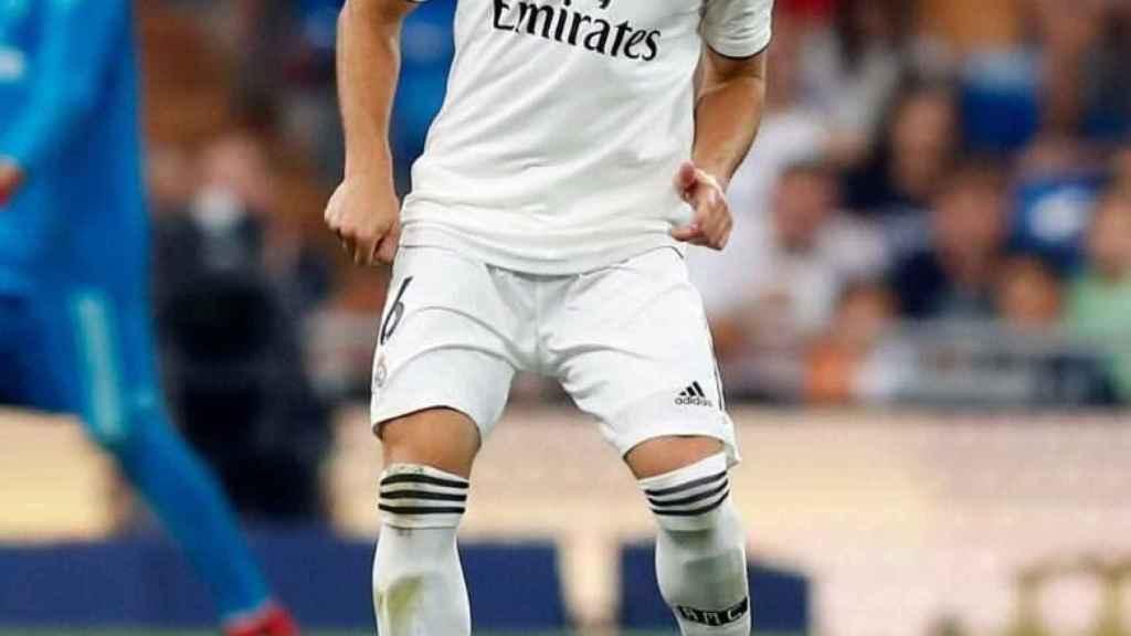 Nacho, durante el Trofeo Santiago Bernabéu
