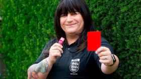 Lucy Clark, primera árbitro transgénero.