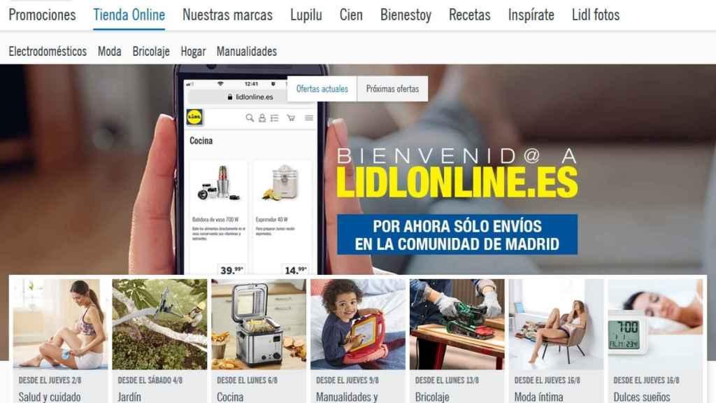 Imagen de la nueva tienda inline de Lidl.