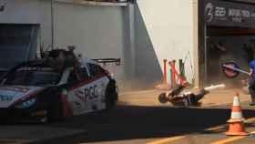 Tres mecánicos atropellados en un campeonato de Stock Light