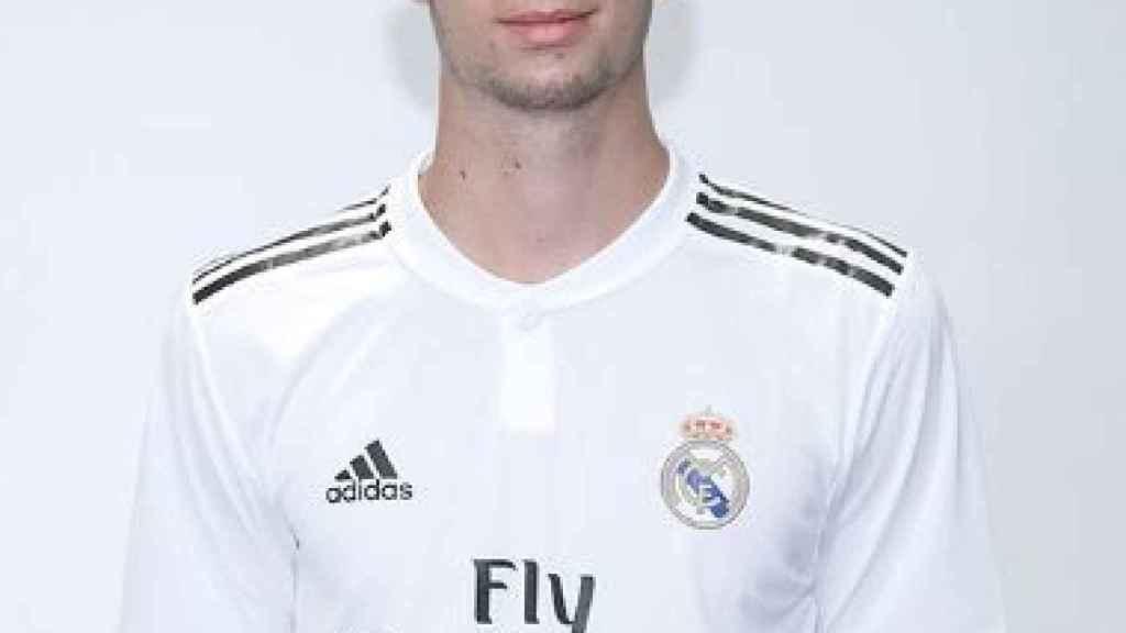 Theo Zidane, jugador del Juvenil B del Real Madrid