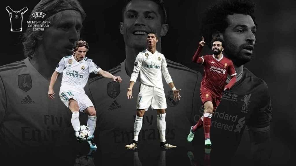 Modric, nominado a Jugador del Año de la UEFA junto a Cristiano y Salah