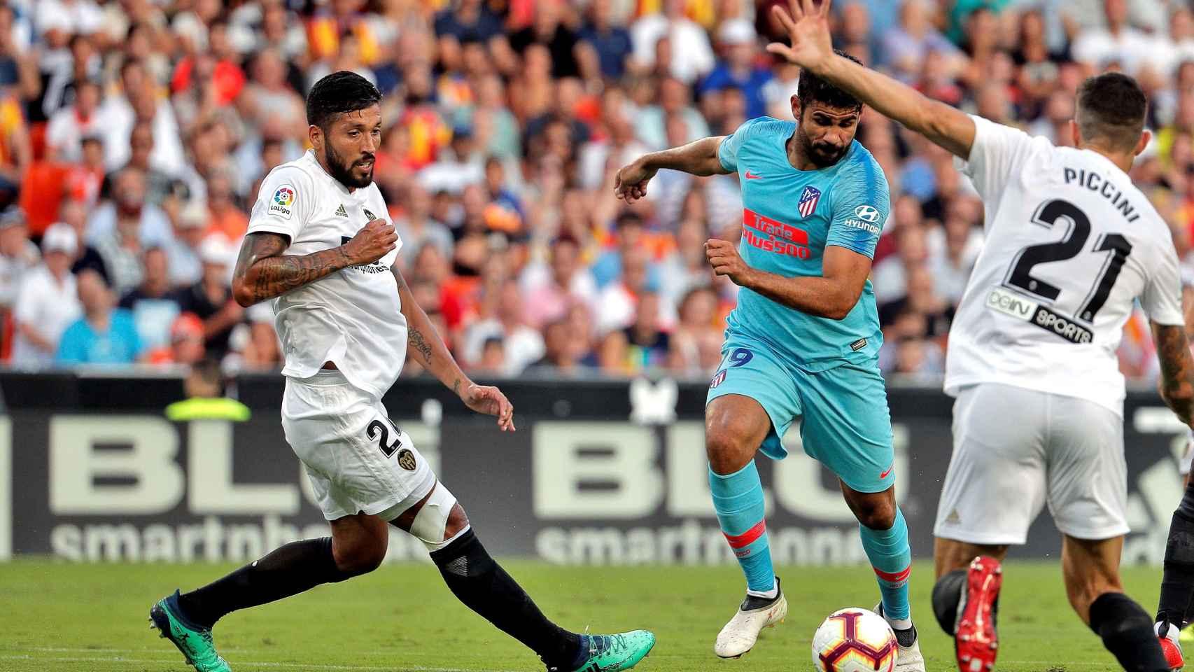 Imagen del Valencia - Atlético de la pasada jornada.