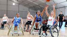 La selección española femenina vence a Brasil en el Mundial de baloncesto en silla de ruedas. Foto: Twitter (@FEDEDDF)
