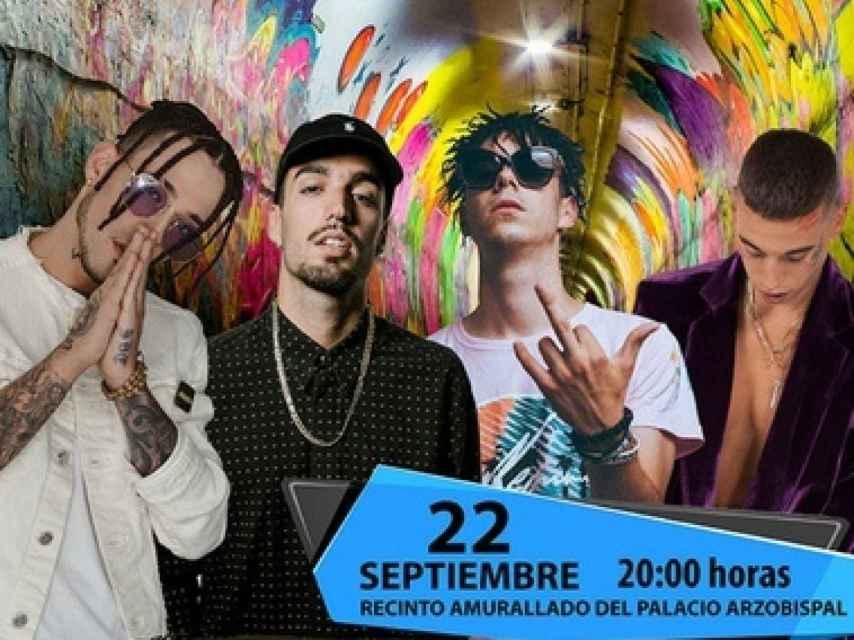 Cartel del festival 'The Urban Wall', con los dos polémicos raperos (i).