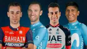 Nibali, Valverde, Aru y Quintana
