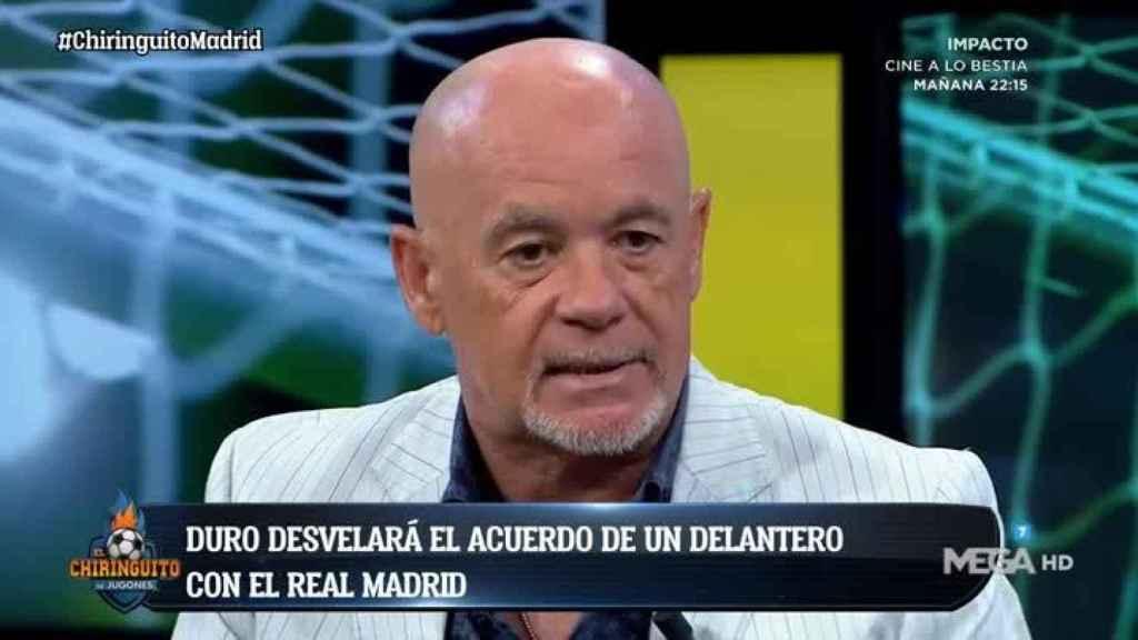 Alfredo Duro en El Chiringuito. Foto: Twitter (@elchiringuitotv)