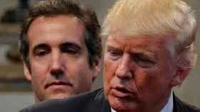 Donald Trump y su exabogado Michael Cohen.