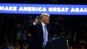 Trump, durante un mitin en Charleston
