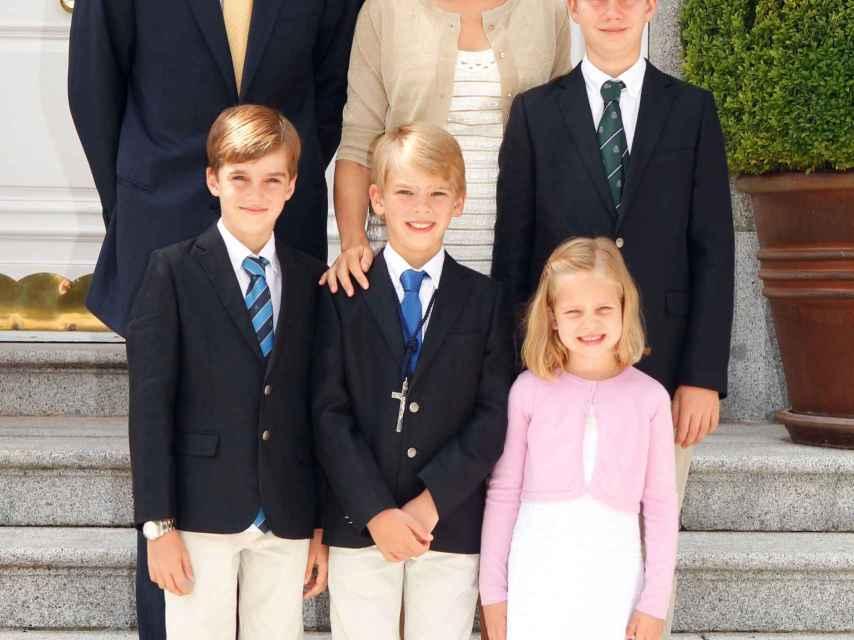 La felicitación de la familia en Navidad de 2011.