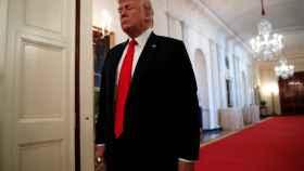 Donald Trump, en uno de los pasillos de la Casa Blanca.