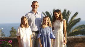 La Familia Real en el tradicional posado de Palma de Mallorca.