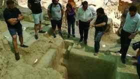 Piscina de la época romana hallada en Carmona