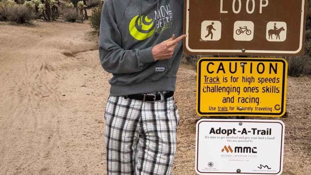 Eeckman en Arizona. Foto: Twitter (@ajeeckman)