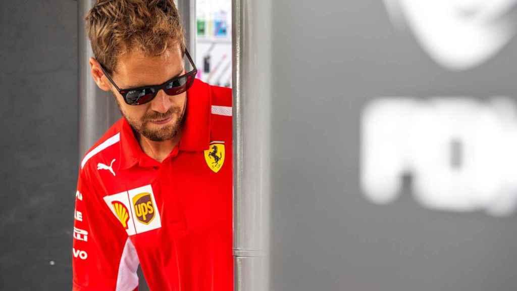 Sebastian Vettel en el Gran Premio de Bélgica