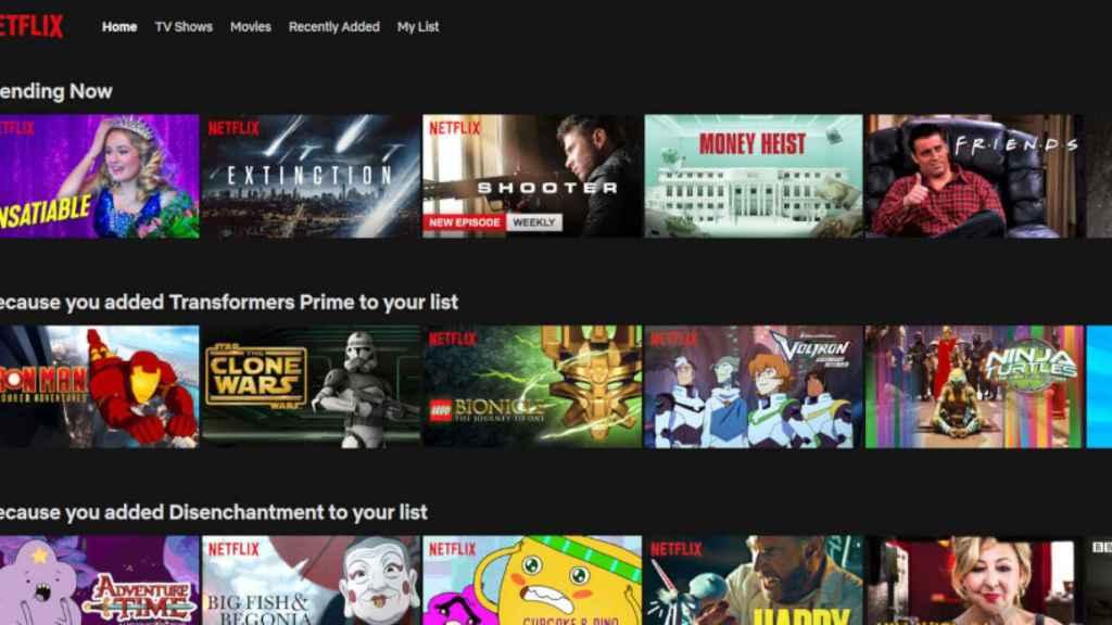 Series de Netflix, en una imagen de archivo.
