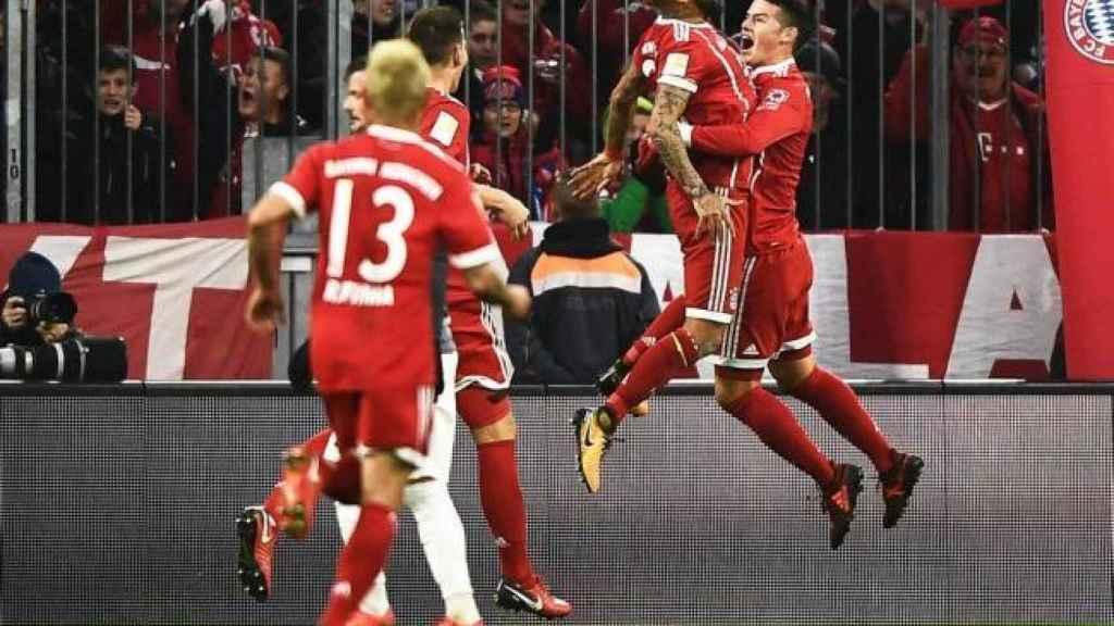 El Bayern celebra un gol durante la pasada temporada.