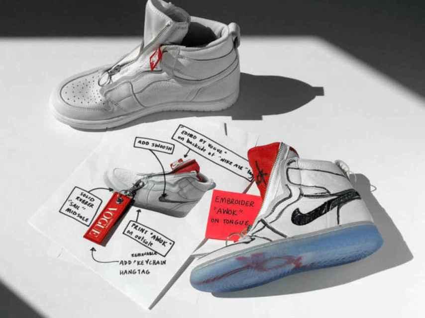 Modelo de zapatillas 'Air Jordan 1' de 'Nike', diseñado por Anna Wintour.