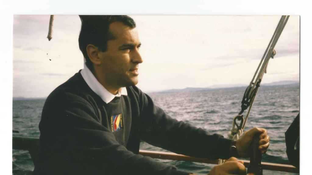 Xabier Fortes, navegando.