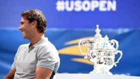 Nadal, durante el sorteo del cuadro del US Open.