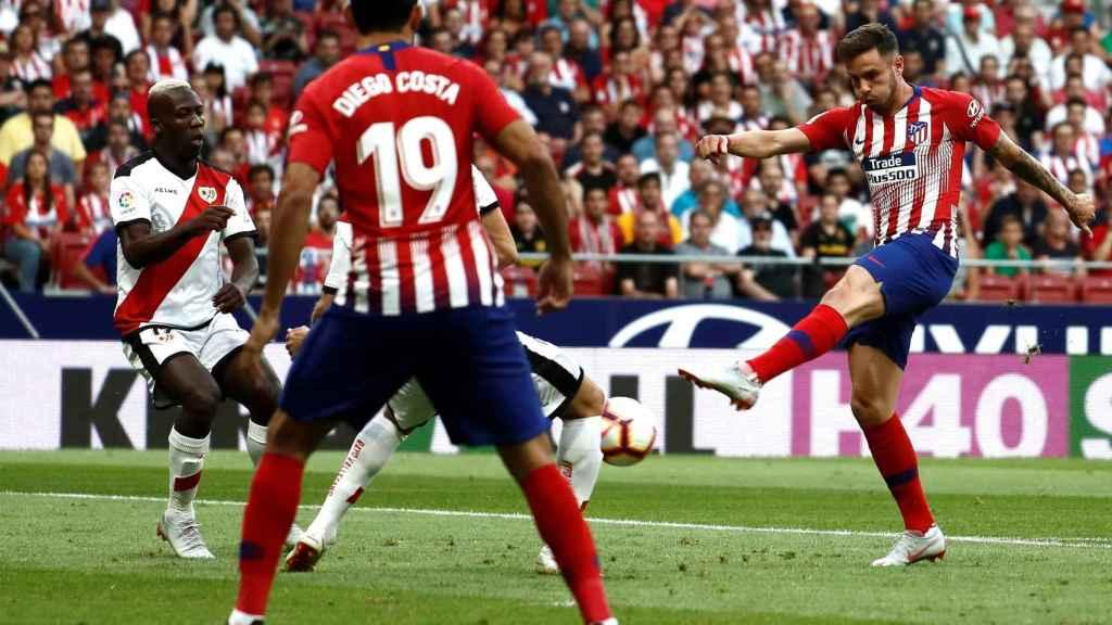 Saúl Ñíguez dispara en el Atlético de Madrid - Rayo Vallecano