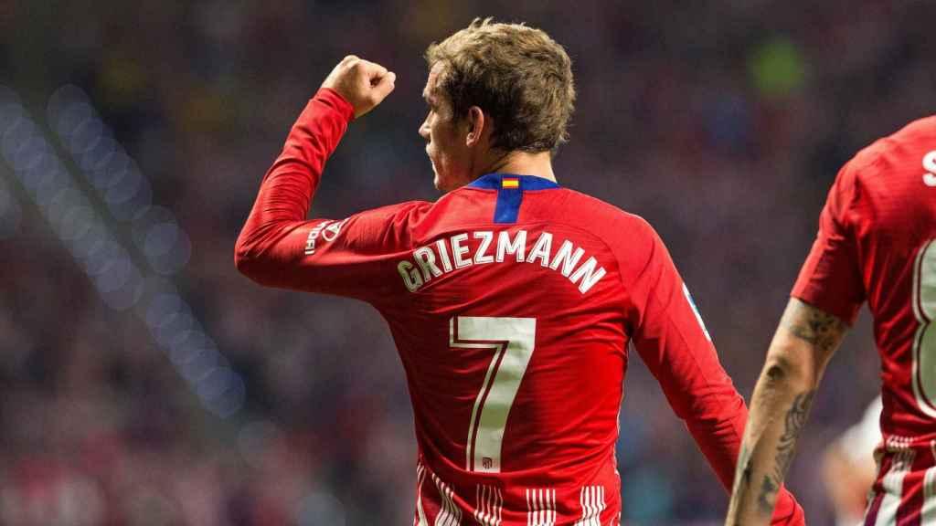 Griezmann celebra su gol en el Atlético de Madrid - Rayo Vallecano
